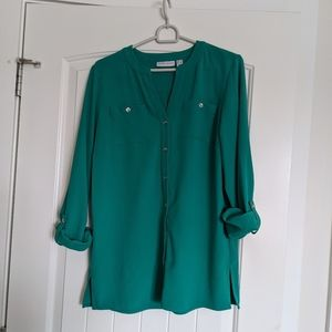 Colorful Teal Blouse